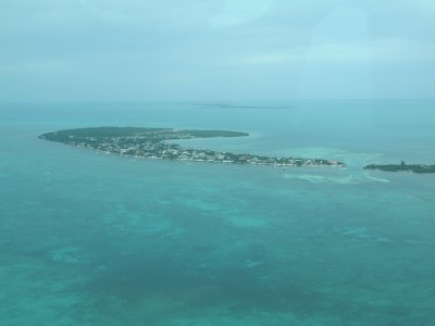 Caye Caulker photo from an Airplane