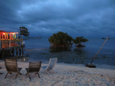 Storm Rolls in on Caye Caulker in Belize