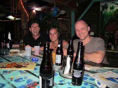 Bar on Caye Caulker - Meeting New Friends
