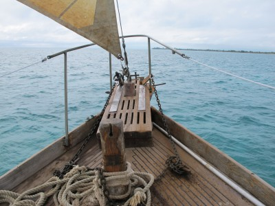 Sailboat Prow in Belize