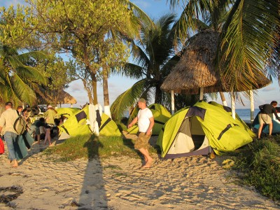 Tents on our small Island