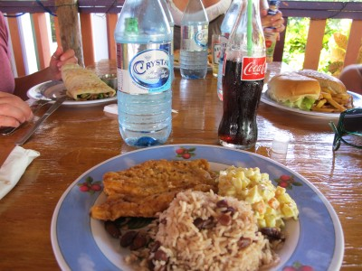 Lunch in Placencia
