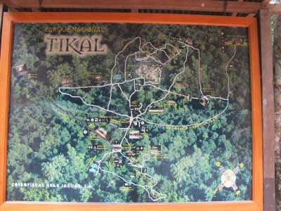 Map of Tikal