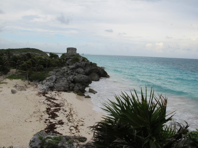 Tulum Beach and Ruins in Mexico