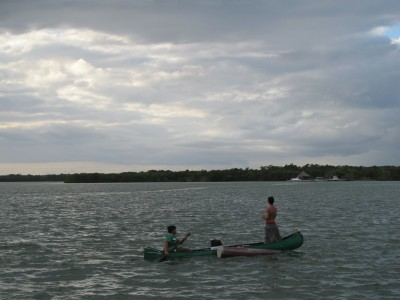 Fisherman at the Chetumal Pier
