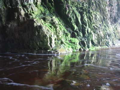 Smoo Cave walls and water