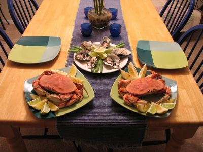 Table with Crab Dinner