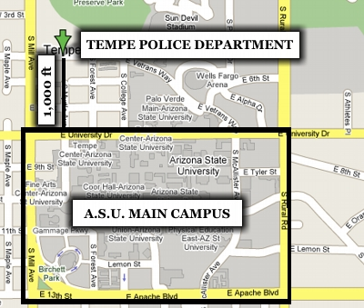 Tempe Campus from Google Maps